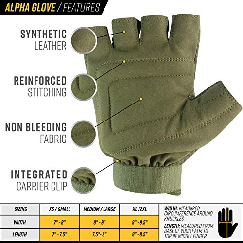 Valken Airsoft Glove 3 Valken Alpha Half-Finger Gloves