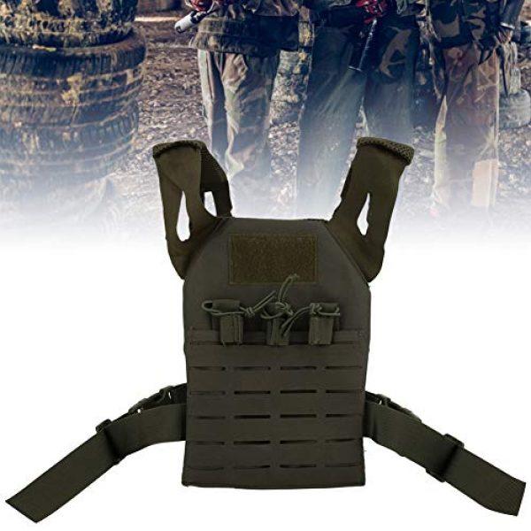 Demeras Airsoft Tactical Vest 6 Demeras Tactics Vest Outdoor Vest Anti-Static Multifunctional Lightweight Wear-Resistant Oxford Cloth CS for Kids