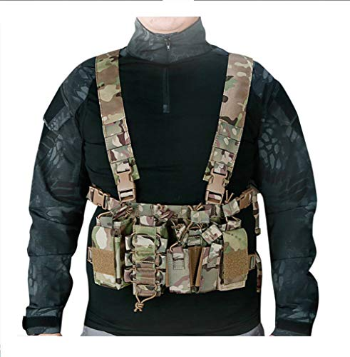 Tactical Area Airsoft Tactical Vest 5 Chest Rig Hunting Vest Molle Pouch Simple Military Tactical Vest with Pouchs