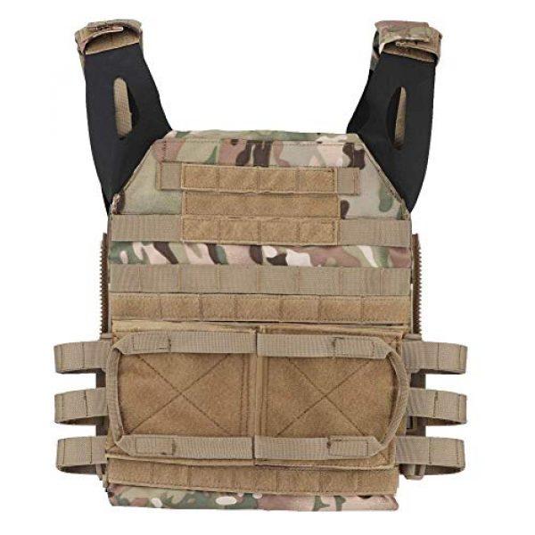 Tactical Area Airsoft Tactical Vest 2 Tactical JPC MOLLE Vest, Adult Tactical CS Field Vest Outdoor Training Airsoft Protective Vest