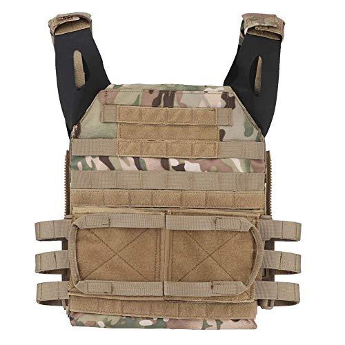 NICEFISH Airsoft Tactical Vest 4 Tactical Vest + Backpack/Modular Vest + Backpack/Breathable Combat Training Vest Adjustable Lightweight