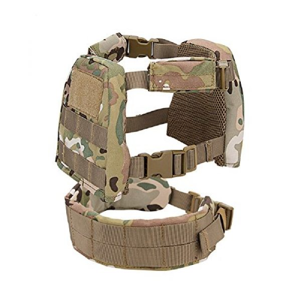 YASHALY Airsoft Tactical Vest 1 YASHALY Chest Rig for Kids, Mini Tactical Vest with Patrol Loading Bearing Belt Assault Molle Combat Children WST Military Protective Gear for WG Game Party