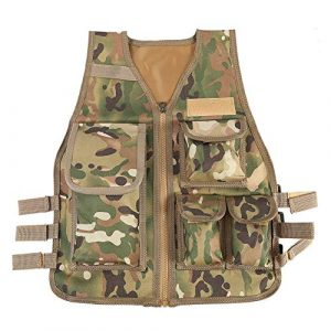 VGEBY Airsoft Tactical Vest 1 VGEBY 4 Colors Nylon CS Game Molle Body Armor Vest for Children Outdoor Equipment