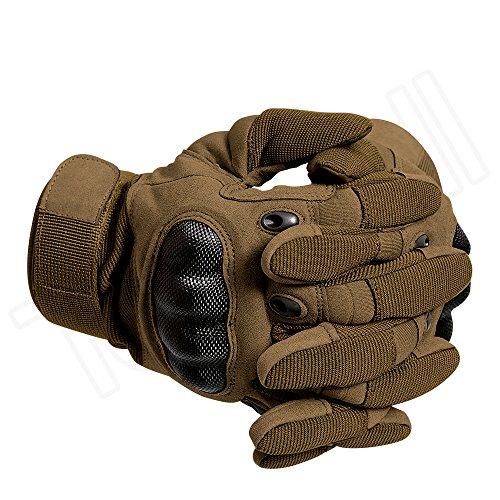 Tenwell Airsoft Glove 3 Tenwell Tactical Gloves Military Rubber Hard Knuckle Full Finger Outdoor Gloves for Men Fit for Cycling Motorcycle Camping Outdoor Sports