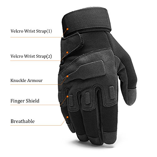 SHAPA Airsoft Glove 4 Military Tactical Gloves Full Finger Rubber Hard Knuckle Gloves for Hunting Airsoft Paintball