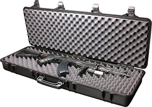 A&N Airsoft Gun Case 1 A&N SRC Airsoft Rifle Gun Foam Padded Plastic Carrying Gun Case Black