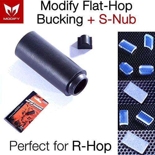 Elvish Tac Airsoft Barrel 1 Elvish Tac Modify Baton Flat Hopup Bucking Hard Type + S-Nub for Airsoft Hop-up
