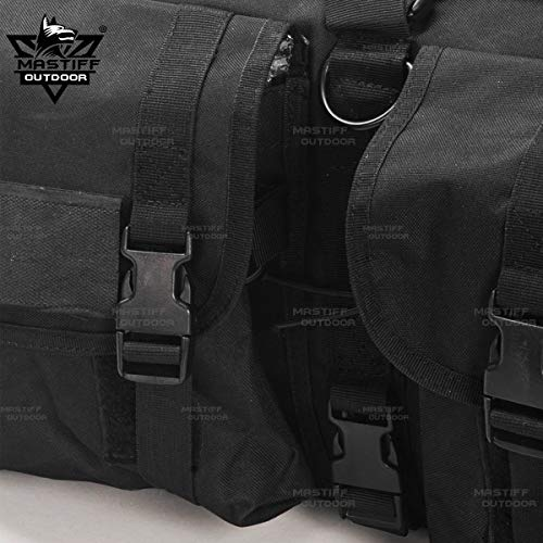 "Mastiff Outdoor Airsoft Gun Case 5 Mastiff Outdoor Tactical Double Long Rifle Pistol Gun Bag Firearm Hungting Pack Transportation Case Paintball Airsoft Length 36"" 42"""