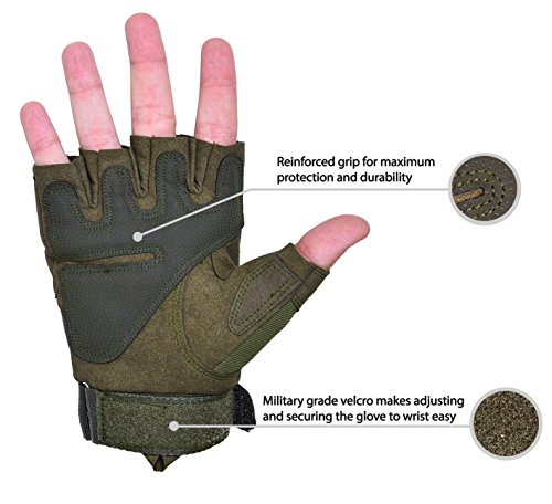 TitanOps Gear Airsoft Glove 3 TitanOPS Fingerless Hard Knuckle Motorcycle Military Tactical Combat Training Army Shooting Outdoor Gloves