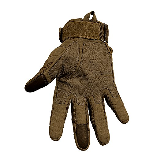 Tenwell Airsoft Glove 2 Tenwell Tactical Gloves Military Rubber Hard Knuckle Full Finger Outdoor Gloves for Men Fit for Cycling Motorcycle Camping Outdoor Sports