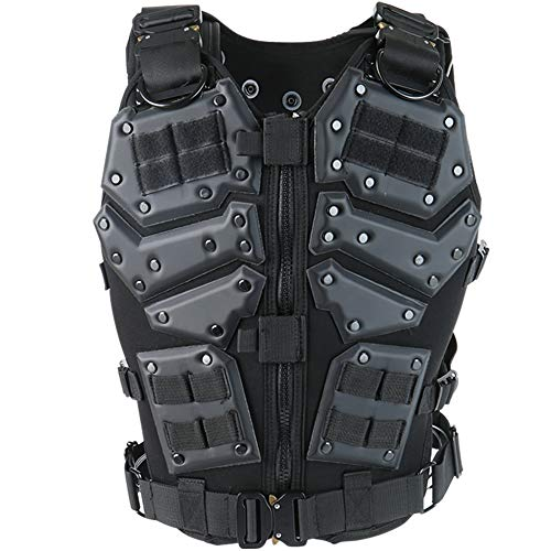 Action Union Airsoft Tactical Vest 1 Action Union Tactical Vest for Men Adults Adjustable Airsoft Paintball Vest Combat Vest Tactical Molle Vest CS Shooting Wargame Outdoor Training