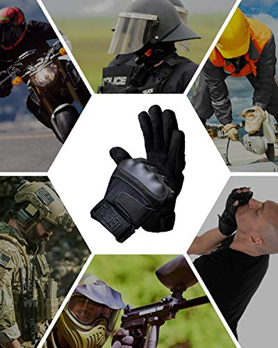 TAC9ER Airsoft Glove 7 TAC9ER Tactical Gloves with Kevlar - Hand Protection Airsoft Gloves Cut and Temperature Resistant with Touchscreen Finger