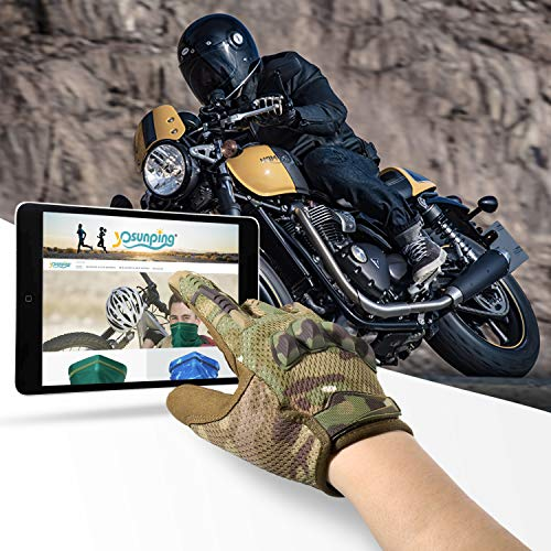 YOSUNPING Airsoft Glove 2 YOSUNPING Tactical Full Finger Gloves Touchscreen for Motorcycle Hiking Cycling Climbing