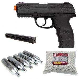Wingun Airsoft Pistol 1 wingun w3000 full metal co2 airsoft pistol, extra clip, 5 co2 cartridges, 1,200 bb's(Airsoft Gun)