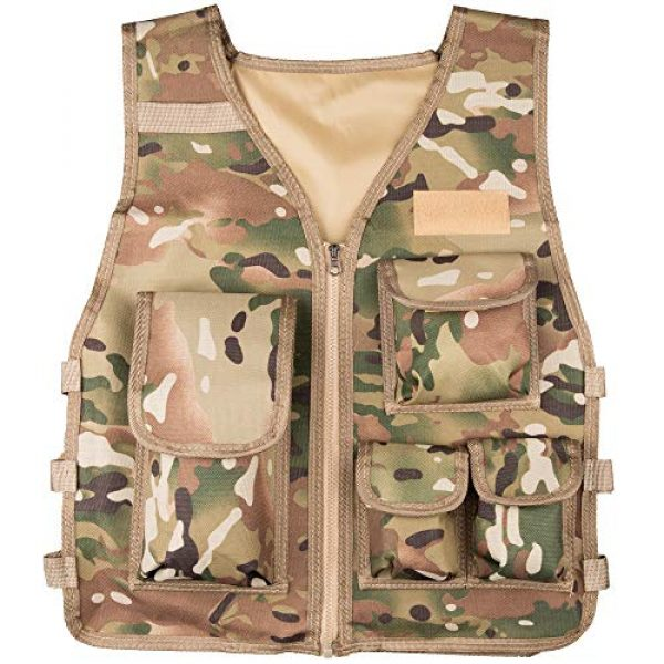 Rein Sport Airsoft Tactical Vest 1 Rein Sport Children's Army All Terrain Tactical Airsoft, Paintball, Combat Vest - Adjustable to Fit Ages 7-13 Yrs. Flexible, Lightweight and Durable for Extreme Play and Adventuring