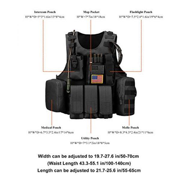 ArcEnCiel Airsoft Tactical Vest 6 ArcEnCiel Tactical Molle Vest, Black