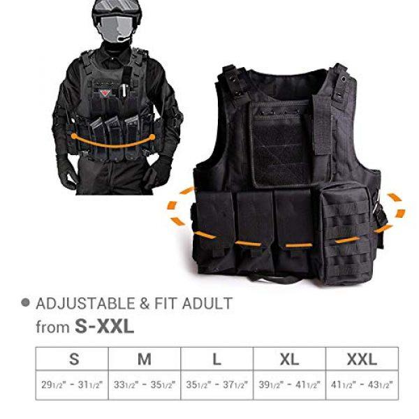 Solomone Cavalli Airsoft Tactical Vest 3 Solomone Cavalli Tactical Airsoft Vest Outdoor Ultra-Light Training Vest Adjustable for Adults 600D Black