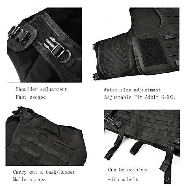 vAv YAKEDA Airsoft Tactical Vest 4 vAv YAKEDA Tactical Vest Military Chest Rig Airsoft Swat Vest for Men