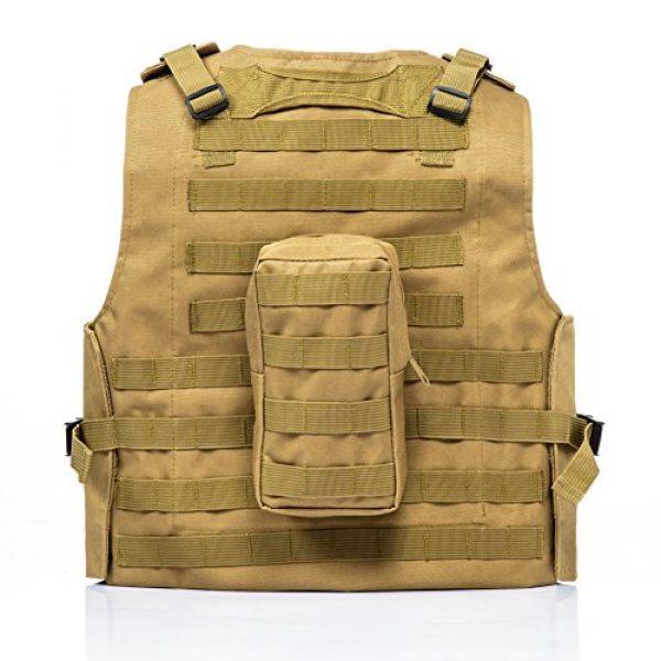 Invenko Airsoft Tactical Vest 2 Invenko Tactical Molle Airsoft Vest Paintball Combat Soft Vest Tan
