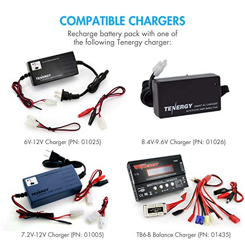Tenergy Airsoft Battery Charger 3 Tenergy 8.4V NiMH Airsoft Battery 3800mAh Flat Battery Pack with Standard Tamiya Connector for Airsoft Guns