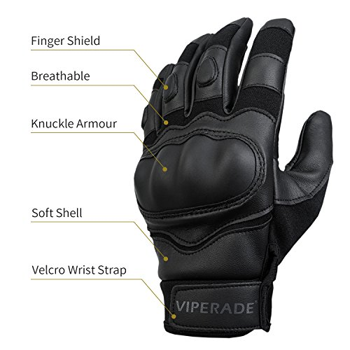 Viperade Airsoft Glove 3 Viperade Mens Tactical Gloves Military Rubber Hard Knuckle Outdoor Glove | Heavy Duty Glove | Airsoft Glove | Best for Cycling Hiking Camping Powersports
