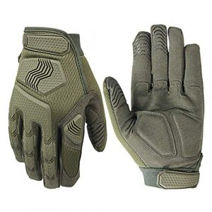 Fuyuanda Airsoft Glove 1 Rubber Protective Guard Full Finger Gloves for Outdoor Cycling Motorbike
