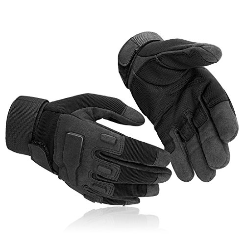 SHAPA Airsoft Glove 2 Military Tactical Gloves Full Finger Rubber Hard Knuckle Gloves for Hunting Airsoft Paintball