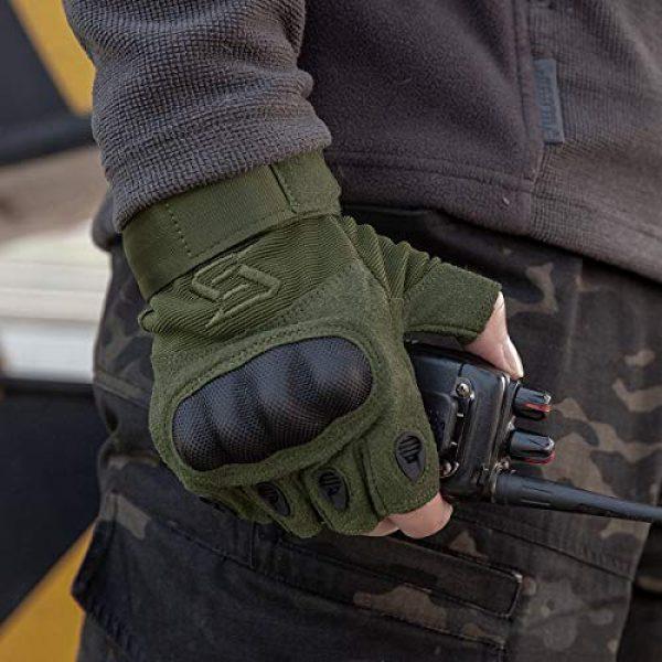 FREE SOLDIER Airsoft Glove 7 FREE SOLDIER Outdoor Half Finger Safety Heavy Duty Work Gardening Cycling Gloves