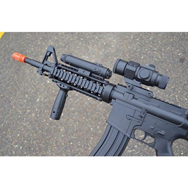 Well Airsoft Rifle 3 wellfire d92h m16 ris airsoft electric gun aeg w/ flashlight and foregrip(Airsoft Gun)