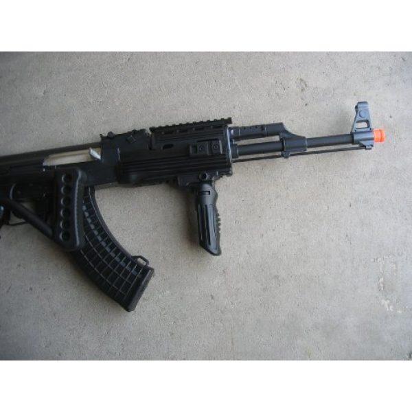 Double Eagle Airsoft Rifle 5 Double Eagle DE Ak-47S Metal Automatic Electric Airsoft Assault Gun 320FPS Black