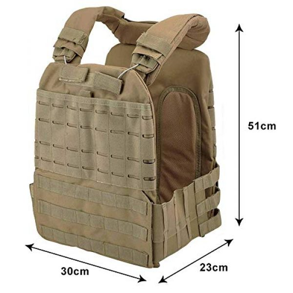 ActionUnion Airsoft Tactical Vest 2 ActionUnion Tactical Vest Molle CS Field Vests Outdoor Adjustable Lightweight Breathable Airsoft Paintball Hunting Shooting Adults 900D Oxford