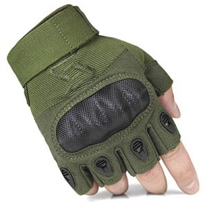 FREE SOLDIER Airsoft Glove 1 FREE SOLDIER Outdoor Half Finger Safety Heavy Duty Work Gardening Cycling Gloves