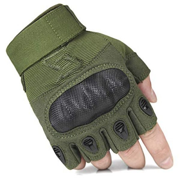 FREE SOLDIER Airsoft Glove 1 FREE SOLDIER Outdoor Half Finger Safety Heavy Duty Work Gardening Cycling Gloves