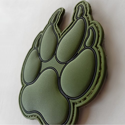 LEGEEON Airsoft Tactical Vest 2 LEGEEON Olive Drab OD K-9 Paw K9 Handler Dogs of War Morale Army Gear PVC Touch Fastener Patch