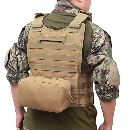DMAIP  7 DMAIP Hunting Molle Tactical Vest Combat Security Training Tool Pouch Modoular Protective Durable Waistcoat for Outdoor Paintball CS Game Airsoft Climbing Hiking