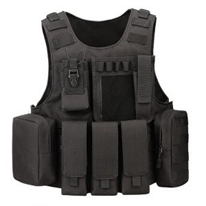 ArcEnCiel Airsoft Tactical Vest 1 ArcEnCiel Tactical Molle Vest, Black