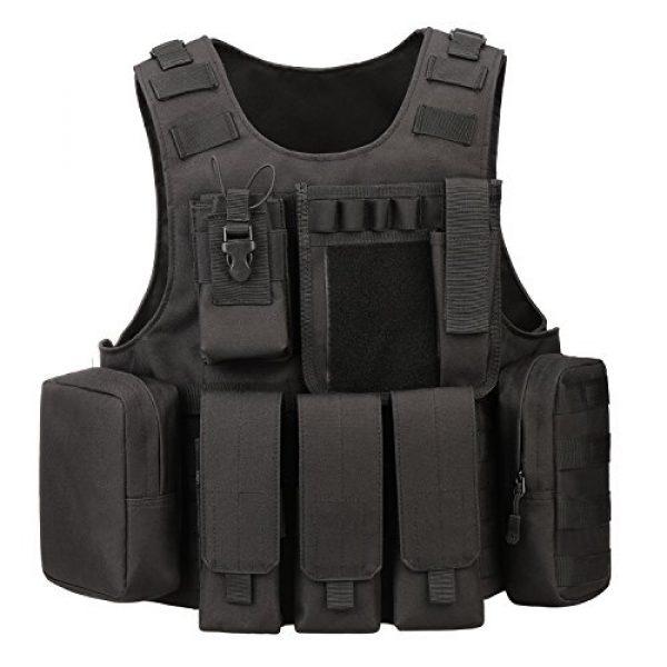ArcEnCiel Airsoft Tactical Vest 1 ArcEnCiel Tactical Molle Vest, Black