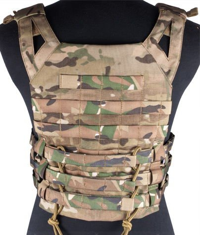 enmu pancho Airsoft Tactical Vest 2 Professional Airsoft Vest made with Durable nylon fabric - Land Camo