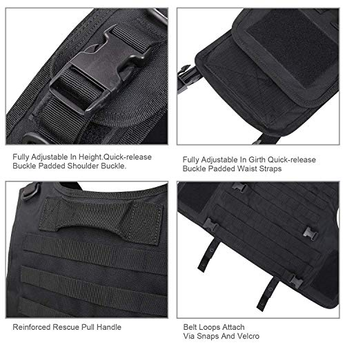 GZ XINXING Airsoft Tactical Vest 6 GZ XINXING Black Tactical Airsoft Paintball Vest
