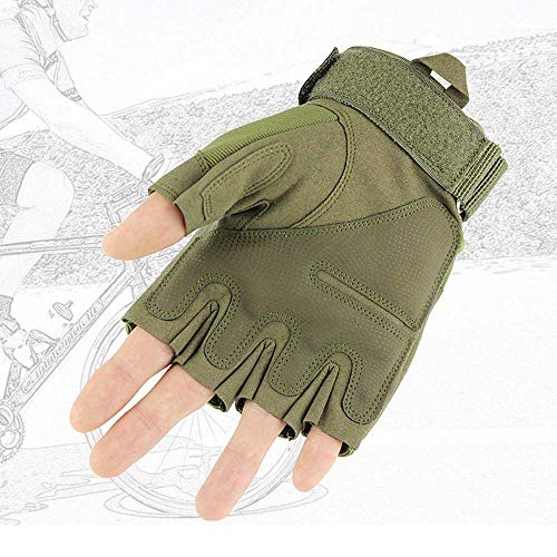 JZYML Airsoft Glove 5 JZYML Tactical Glove Hard Knuckle Fingerless Half Finger Outdoor Cycling Motorcycle Hiking Camping Driving Gloves Guante