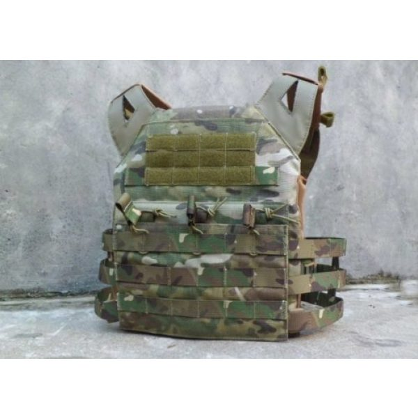enmu pancho Airsoft Tactical Vest 3 Professional Airsoft Vest made with Durable nylon fabric - Land Camo