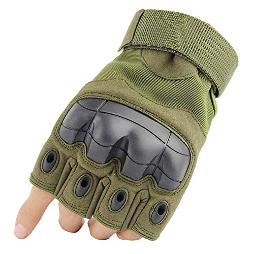JZYML Airsoft Glove 2 JZYML Tactical Glove Hard Knuckle Fingerless Half Finger Outdoor Cycling Motorcycle Hiking Camping Driving Gloves Guante