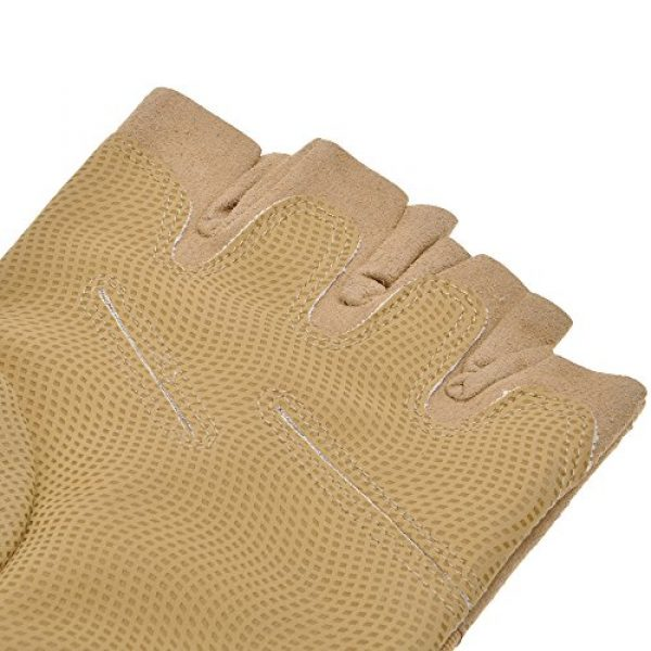 ZLYC Airsoft Glove 7 ZLYC Men's Fitness Gloves Wrist Wrap Support Half Finger Tactical Gym Glove