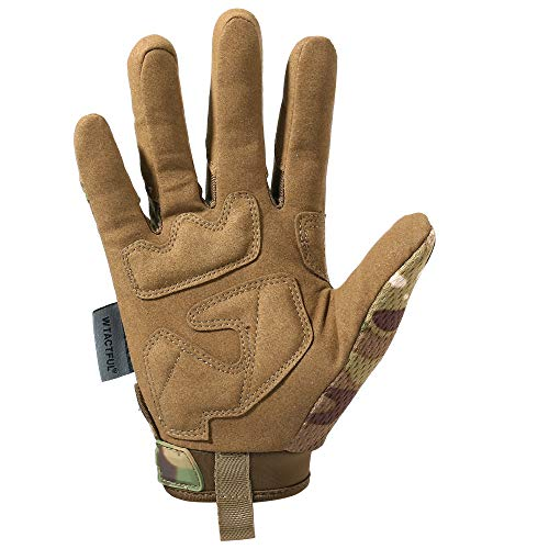 WTACTFUL Airsoft Glove 3 WTACTFUL Rubber Guard Protective Full Finger Tactical Gloves for Airsoft Hunting Cycling Motorbike