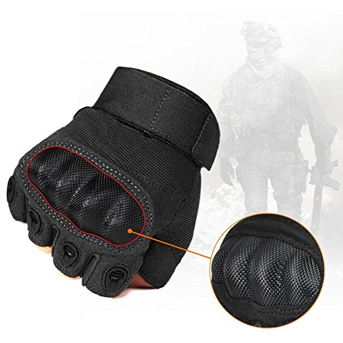 Fantastic Zone Airsoft Glove 7 Ventilate Wear-resistant Tactical Gloves Hard Knuckle and Foam Protection for Shooting Airsoft Hunting Cycling Motorcycle Gloves Men's Outdoor Half finger Full finger Gloves Black M/L/XL