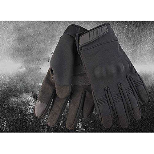 HYCOPROT Airsoft Glove 5 HYCOPROT Outdoor Full Finger Waterproof Windproof Tactical Gloves with Flexible Touch Screen Hard Knuckle Protect for Cycling Motorcycle Climbing Gardening Hunting Gear