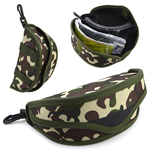 Elemart Airsoft Goggle 7 Elemart Tactical Airsoft Goggles - Safety Goggles Army Goggles Military Eye Protection Hunting Glasses for Shooting - 3 Interchangeable Multi Lens & Carrying Case