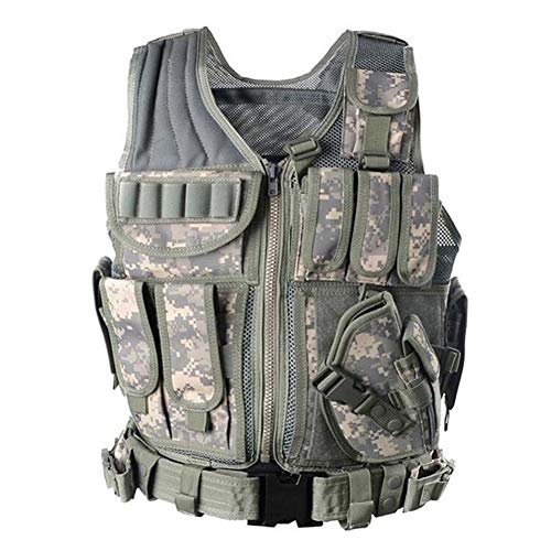 Vioaplem Airsoft Tactical Vest 1 Vioaplem Men's Military Tactical Vest Army Molle Vest Outdoor CS Airsoft Paintball Equipment Body Armor Hunting Vest 4 Colors