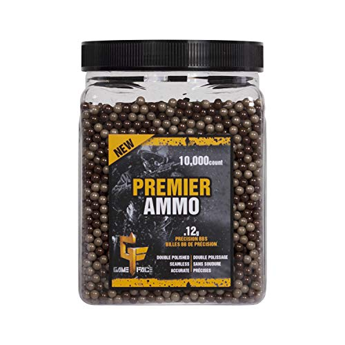Game Face Airsoft BB 1 Game Face Crosman 10000 Ct. Camo Ammo 12gram AirSoft BBs, Multi, One Size