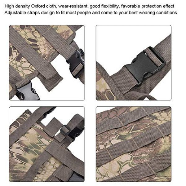 Yencoly Airsoft Tactical Vest 2 Yencoly Combat Vest, Good Flexibility Tactics Vest, Canteens Hospitals for Police Stations Military